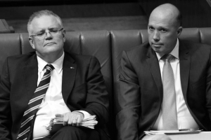 dutton and scomo B&W